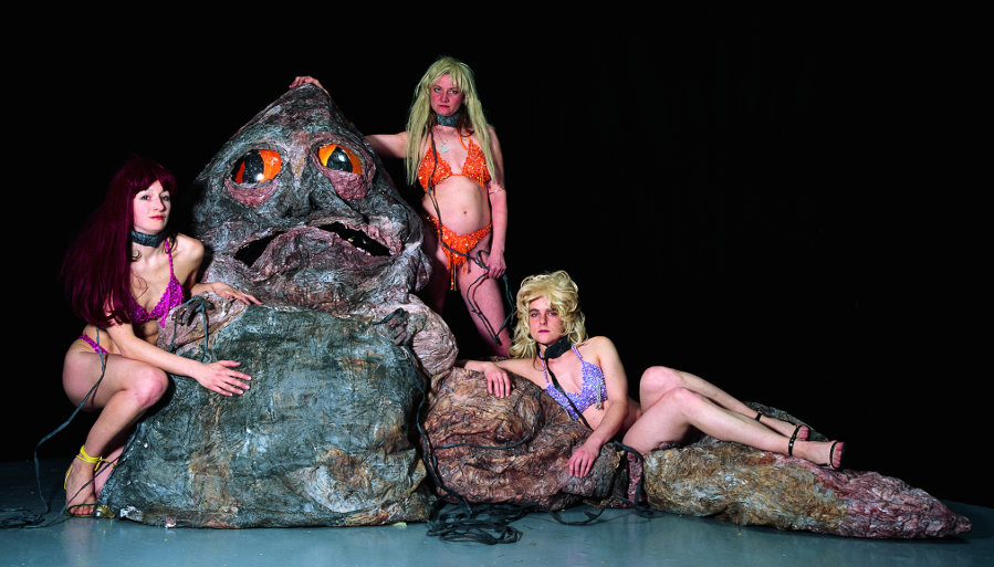 Marvin Gaye Chetwynd, An Evening with Jabba the Hutt, 2003. Documentation from The International 3, Manchester. Copyright the artist, courtesy Sadie Coles HQ, London.